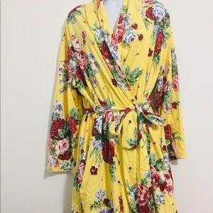 ⭐️Talbots Yellow Floral Long Dress Robe ⭐️Medium⭐️
